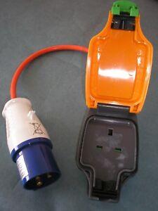 EU-UK-Commando-plug-16A-Camping-EV-CS-CP-Adapter-socket-13A-1G-WP