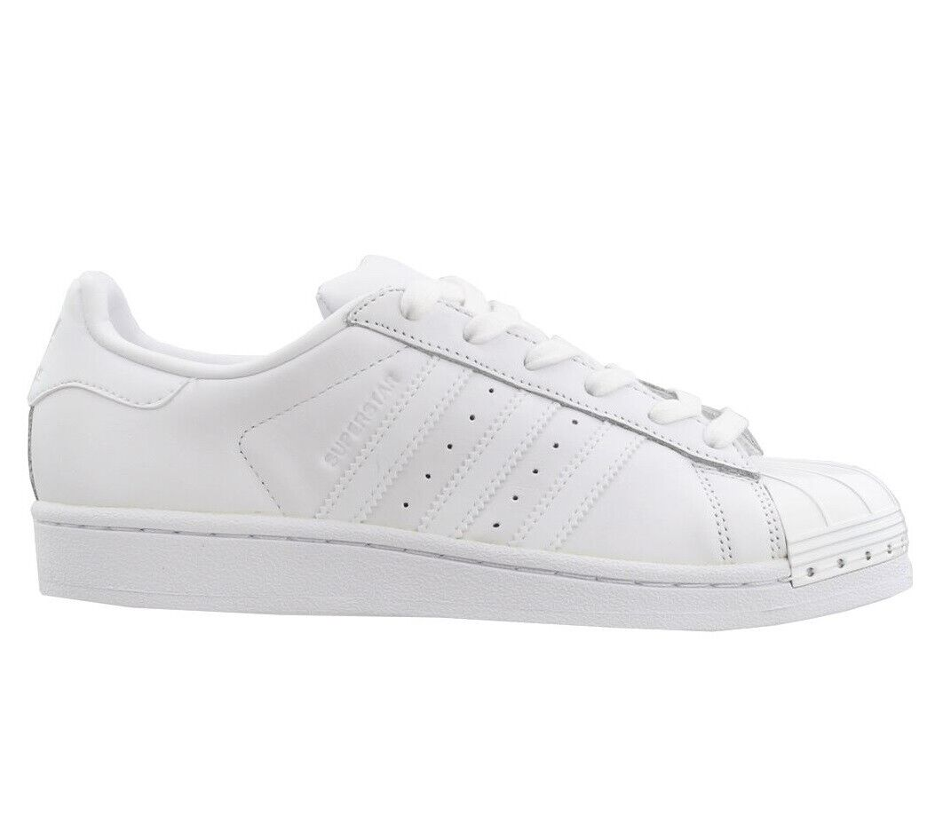 Adidas Superstar Metal Toe Womens BY9751 White Leather Shell shoes Size 9