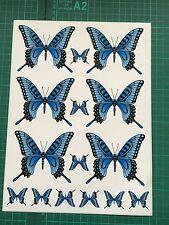 Killer Graffix Digitally Printed Blue Butterfly Stickers Car Boat Bike Caravan