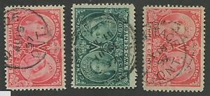 CANADA-53-52-53-USED-DATED-SUNDAY-CANCELS