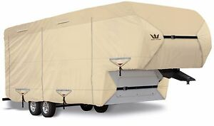 S2-Expedition-Premium-5th-Fifth-Wheel-Toy-Hauler-RV-Cover-fits-29-039-30-039-Lg-TAN