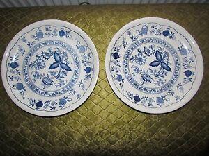 2-Biltons-Plates-Blue-Onion-Pattern