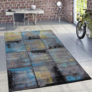 Designer Teppich Modern Wohnzimmer Ölgemälde Abstrakt Rost Optik In ...