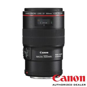 Canon EF 100mm f/2.8L Macro IS USM Lens ***USA AUTHORIZED***