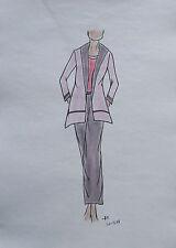 ORIGINAL MODEZEICHNUNG Modeskizze Damen fashion sketches 20-378