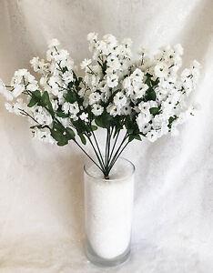 Image Is Loading 12 Baby 039 S Breath White Gypsophila Silk