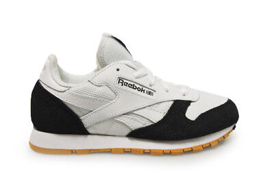 new product ff32e 0e1f1 Details about Kids Reebok CL Leather SPP - AR2544 - White Black Toffee  Trainers
