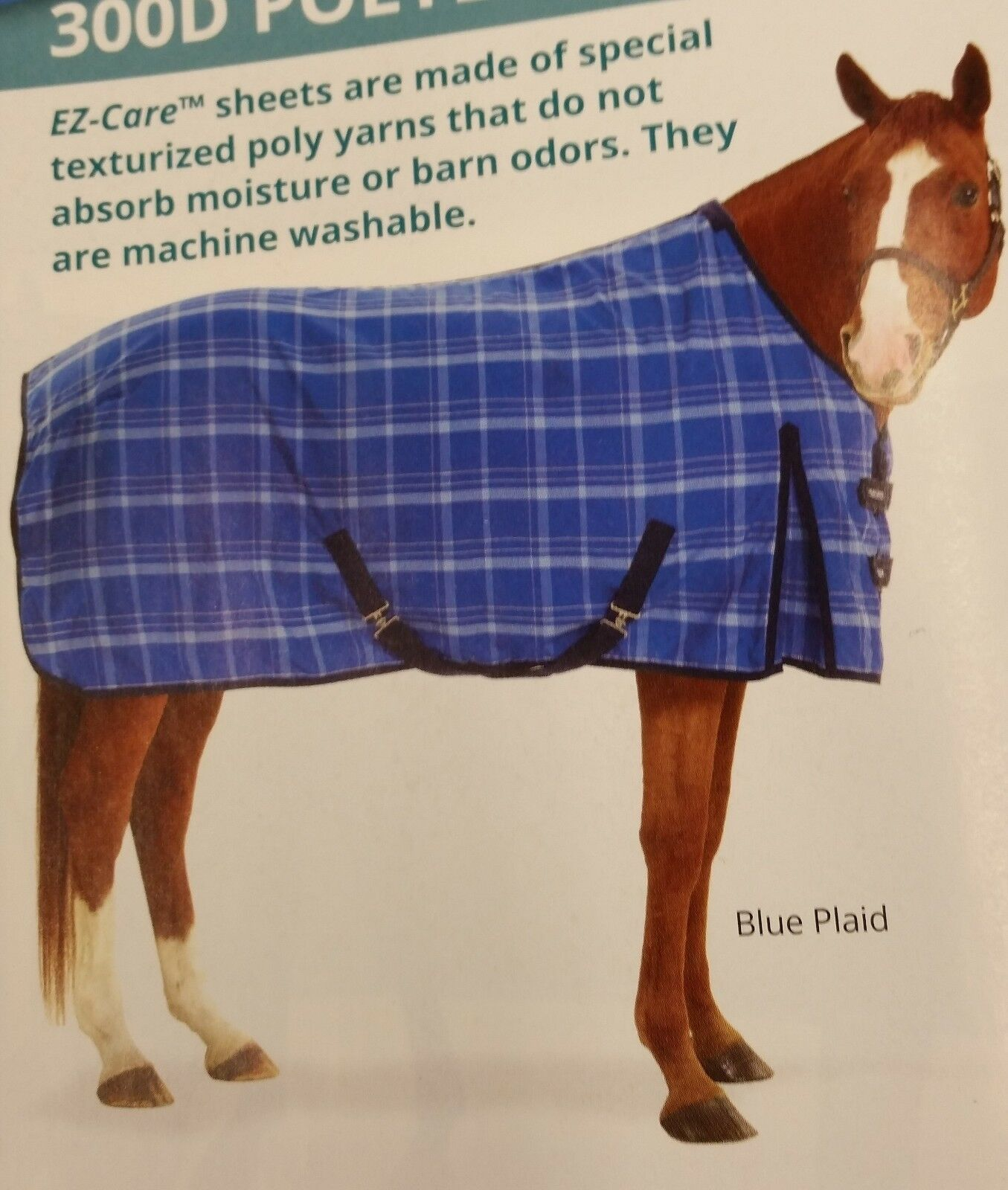 Equi-Essentials™ EZ-Care™ Light Sheet Plaid Stable Sheet Light 38c50b