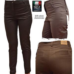 5800fc6f4a47 Pantalone-donna-jeans-sartoria-cotone-vita-alta-made-