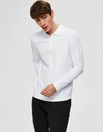Selected Homme Milano Polo Shirt in Bright White