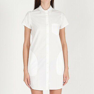 NWT STEVEN ALAN White 100/% Cotton Button Down Shirt Dress Made in USA P XS $215