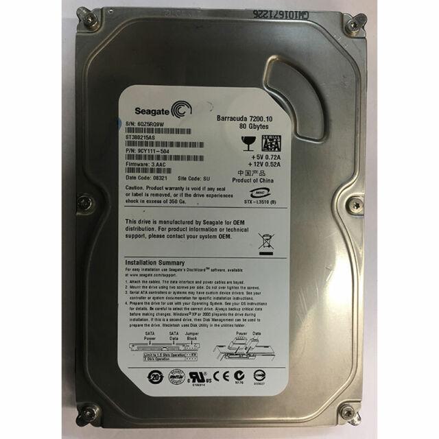 Seagate 80GB, 7200RPM, SATA - ST380215AS