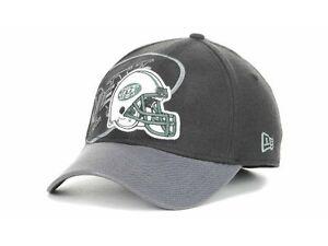 NY New York Jets New Era 39Thirty NFL Pro Football Cap Hat  M/L L/XL Black/Gray