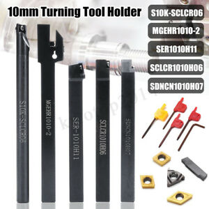 10MM-Shank-5Pcs-CNC-Lathe-Turning-Holder-Tool-set-Inserts-Blade-Wrench-Bench