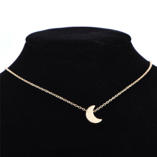 Stylish Silver Crescent Moon Pendant Necklace Chain Necklace Women Jewelry 4H