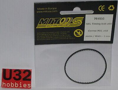 Modest Mitoos M466 Riemen Zahnriemen 66 Zähne 2mm Kinderrennbahnen