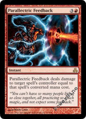 1 FOIL Parallectric Feedback Red Guildpact Mtg Magic Rare 1x x1