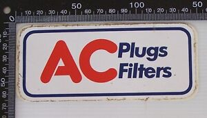 VINTAGE-AC-PLUGS-FILTERS-RACING-SPONSOR-ADVERTISING-SOUVENIR-PROMO-CAR-STICKER