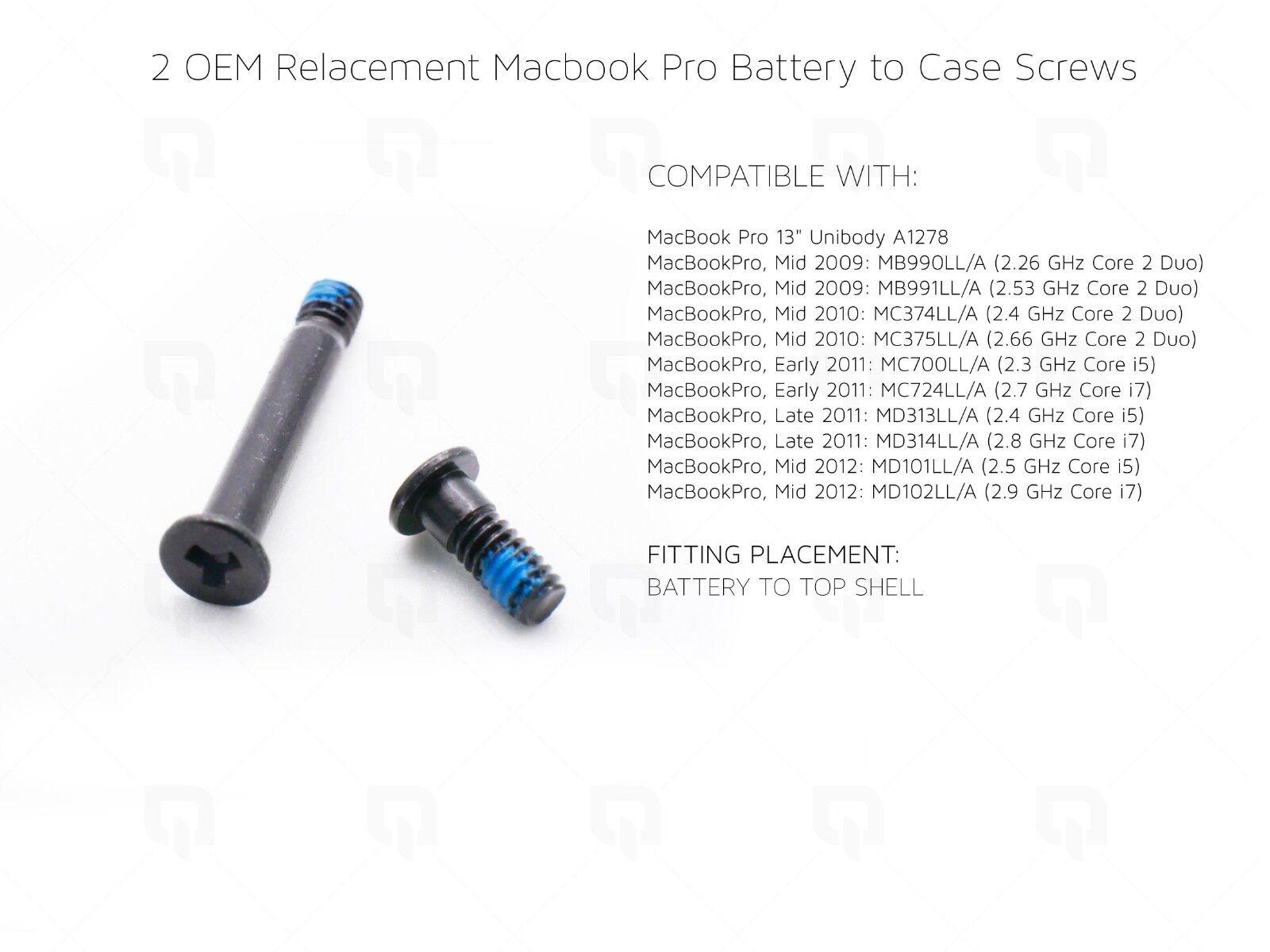 2 x Genuine Screws for Macbook Pro MacBook Pro Unibody A1278 Battery Screw Parts