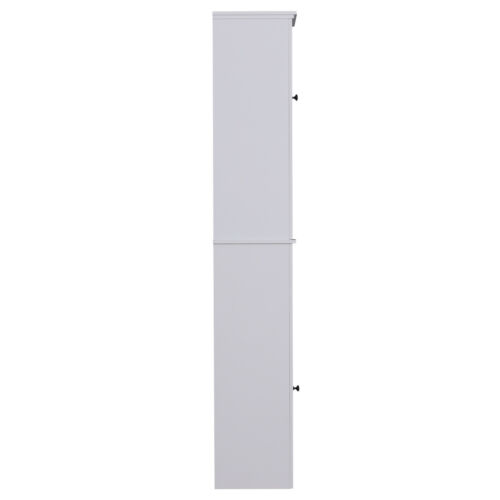 "67"" Wooden Tall Free Standing Stand Alone Bathroom Linen Tower Storage Cabinet"