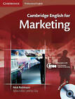 Cambridge English for Marketing Student's Book with Audio CD by Nick Robinson (Mixed media product, 2010)