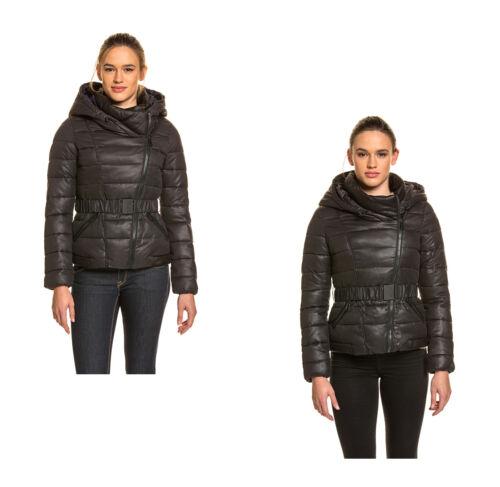 KHUJO Damen Übergangsjacke warm winter gefüttert Kapuze Tailliert Herbst