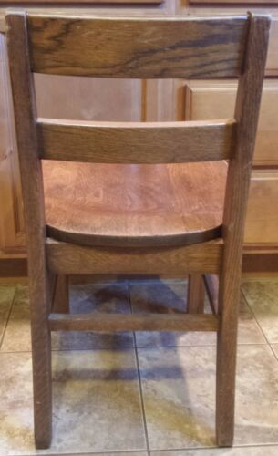 """Vintage 16/"""" KIDS CHILD Solid Wood Wooden Library School Play Student Study Chair"""