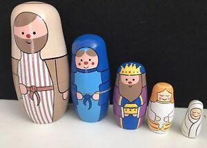 Wooden-Russian-Dolls-Nesting-Nativity-Set