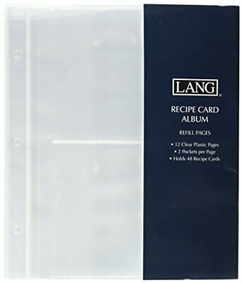 Lang Refill Pages Open Sleeve for Recipe Card Album