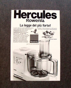 GCG] I538 - Advertising Pubblicità - HERCULES ROWENTA , NUOVO ROBOT ...
