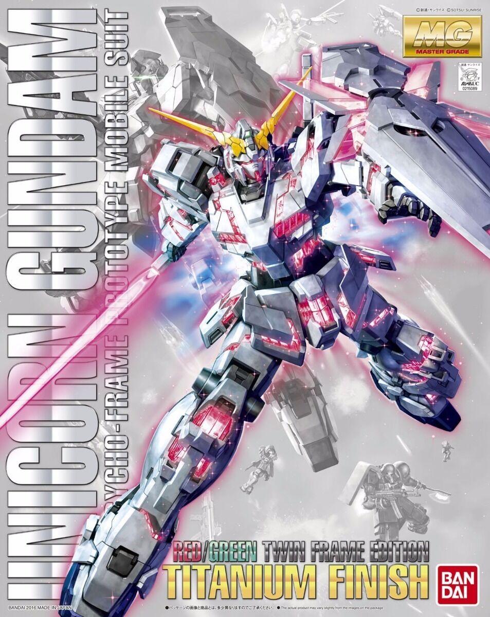 Beai MG 1 100 Rx-0 Unicorno Gundam Rosso verde Doppie Telaio Edizione Titanio