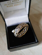 GENTS 9 CARAT CELTIC WEDDING / DRESS RING MADE IN UK BY B&N BRAND NEW IN BOX