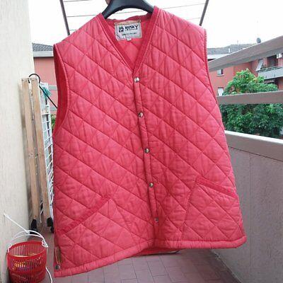 Laborioso Gilet Husky Of Tostock Made In England Giacca Donna Uomo Rosso Trapuntato Prezzo Ragionevole