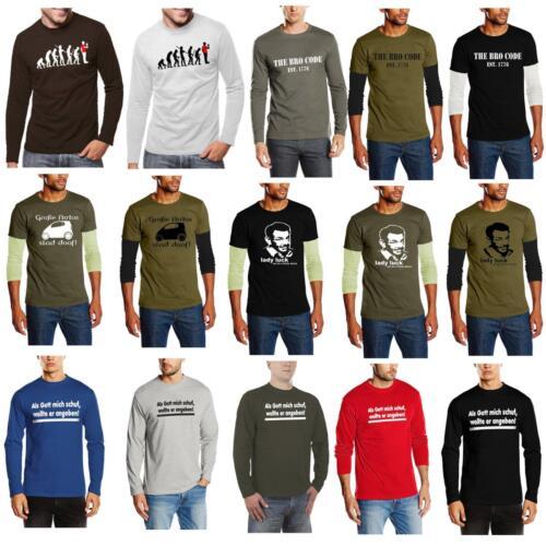 Manches Longues T-shirt que dieu m/'a créé Chuck Norris Evolution Sheldon The Bro Code