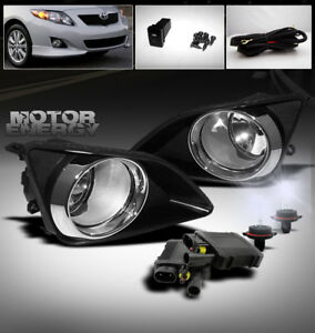 09 10 TOYOTA COROLLA SEDAN JDM FRONT BUMPER CHROME FOG LIGHT LAMP KIT LEFT+RIGHT