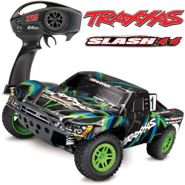 Traxxas 68054-4 Slash 4x4 Brushed 1/10 Short Course RTR Truck GREEN w/o Batt/Chg