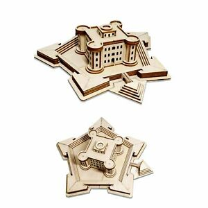 1-700-Wooden-Building-Naval-Battle-Scenes-Redoubt-Castle-Fort-Model-DIY-CY707