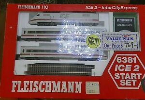 FLEISCHMANN-ICE2-Inter-City-Express-6381-Start-Set-in-DB-Livery