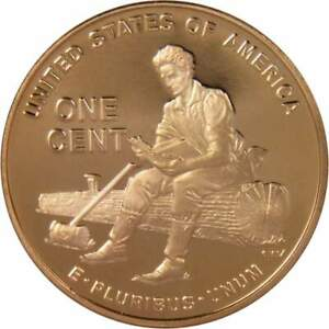 2009-S-Lincoln-Bicentennial-Cent-Formative-Years-Proof-Bronze-Penny-1c-Coin