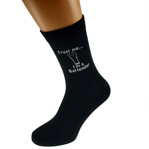 Trust me I/'m a Bartender Image Design Mens Black Socks X6N407