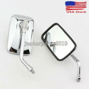 US Motorcycle Black Oval Mirrors for Honda VTX 1300 1800 TYPE C R S N F T RETRO