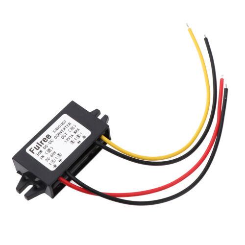 Car DC Buck Converter 20-60V to 12V 3A 36W Step-Down Power Supply Module