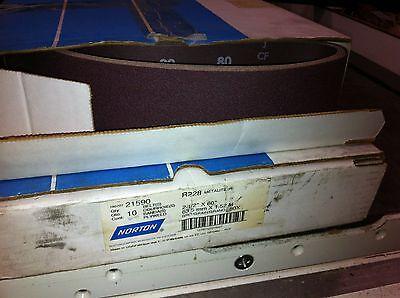 """NORTON Premium Abrasive Sanding Belts 2-1//2/""""x48/"""" A//O 40 grit r228 metalite 21535"""