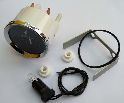 Smiths Oldtimer 60-0-60 Ampermeter Chrom-Blende /& Schwarze Anzeige für MG Mini