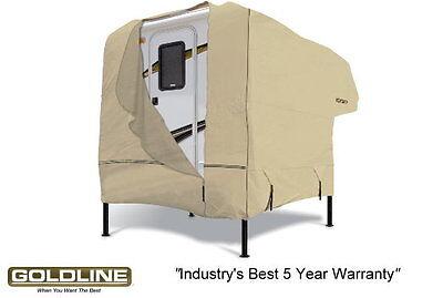Goldline Premium Long Life RV Cover For Truck Camper 10 to 12 FT Tan