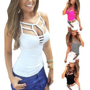finest selection 829ec b3bf1 Details zu Sexy Mode Damen ärmellos Bustier BH Tank Weste Crop Top Bluse  Trägertops T-shirt