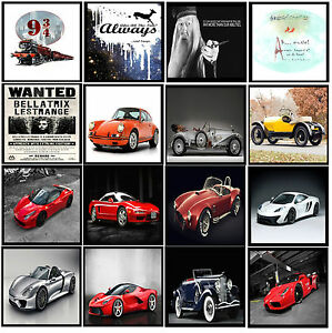 A4 LAMINATED Harry Potter Best Quote & Super Sports Racing Car Posters Art -#31