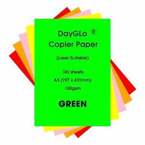 DAYGLO FLOURESCENT 100GSM PAPER GREEN A3 X 250