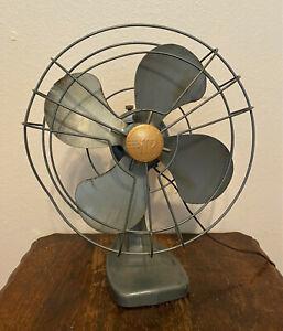 """Vintage Mimar Products Electric Oscillating Desk Fan 12"""" - Model 210 - Works"""