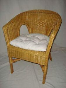 rattan sessel neu honig mit polster stuhl korbsessel stapelbar versandkostenfrei ebay. Black Bedroom Furniture Sets. Home Design Ideas
